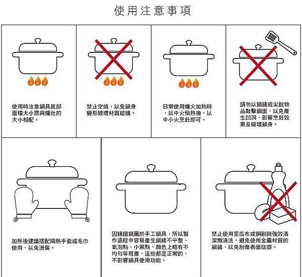 鑄鐵鍋-3-使用注意事項