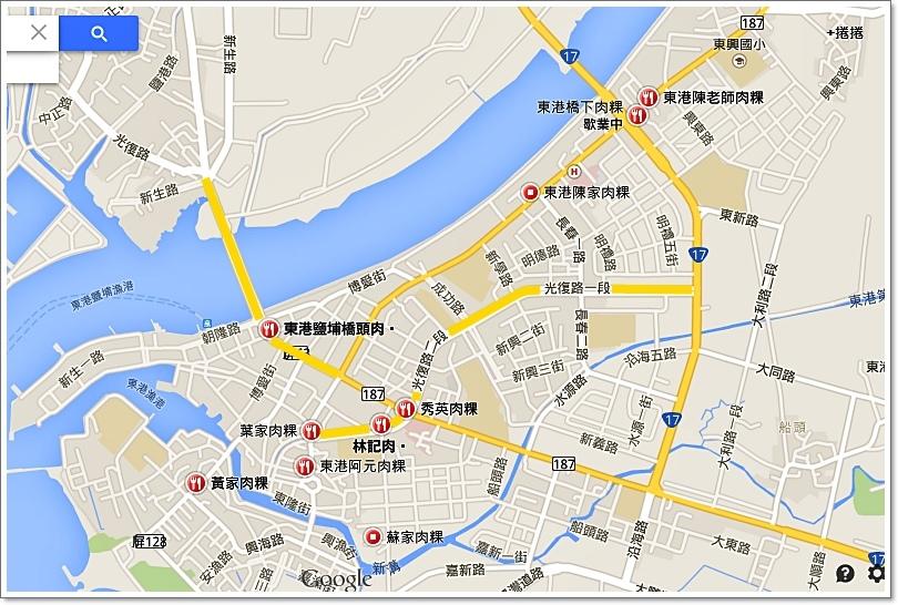 東港肉粿地圖