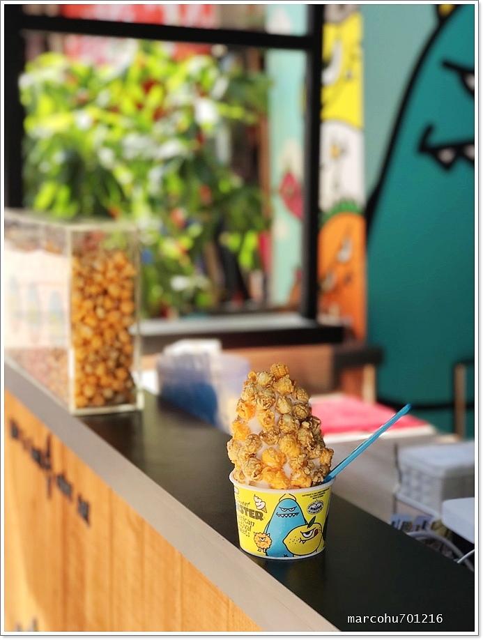 台南友愛基地怪獸爆米花冰淇淋-3