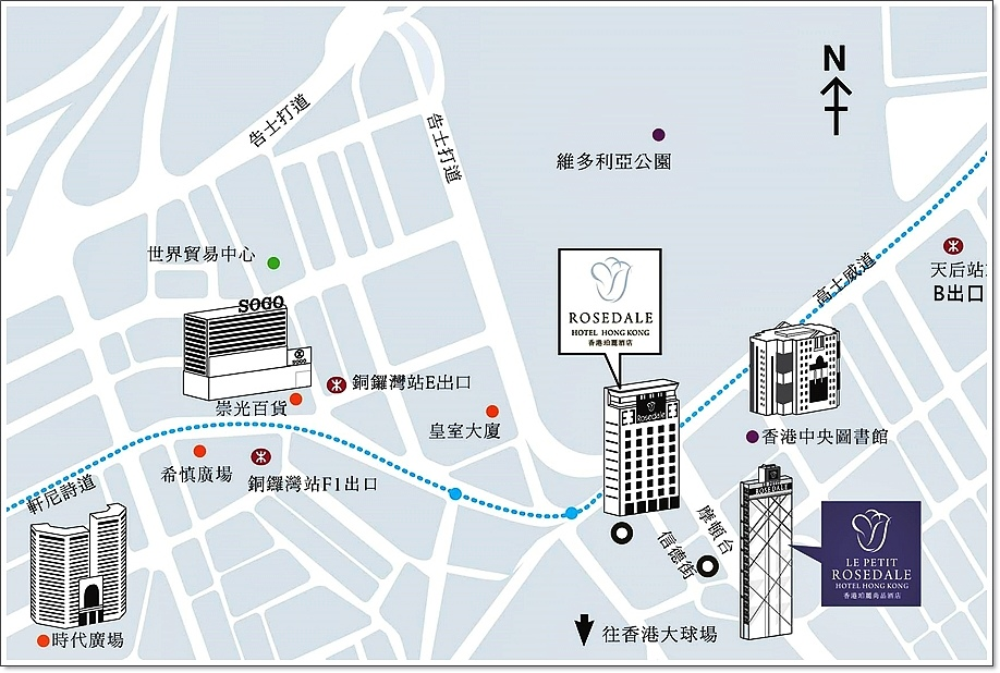 香港珀麗尚品酒店地圖