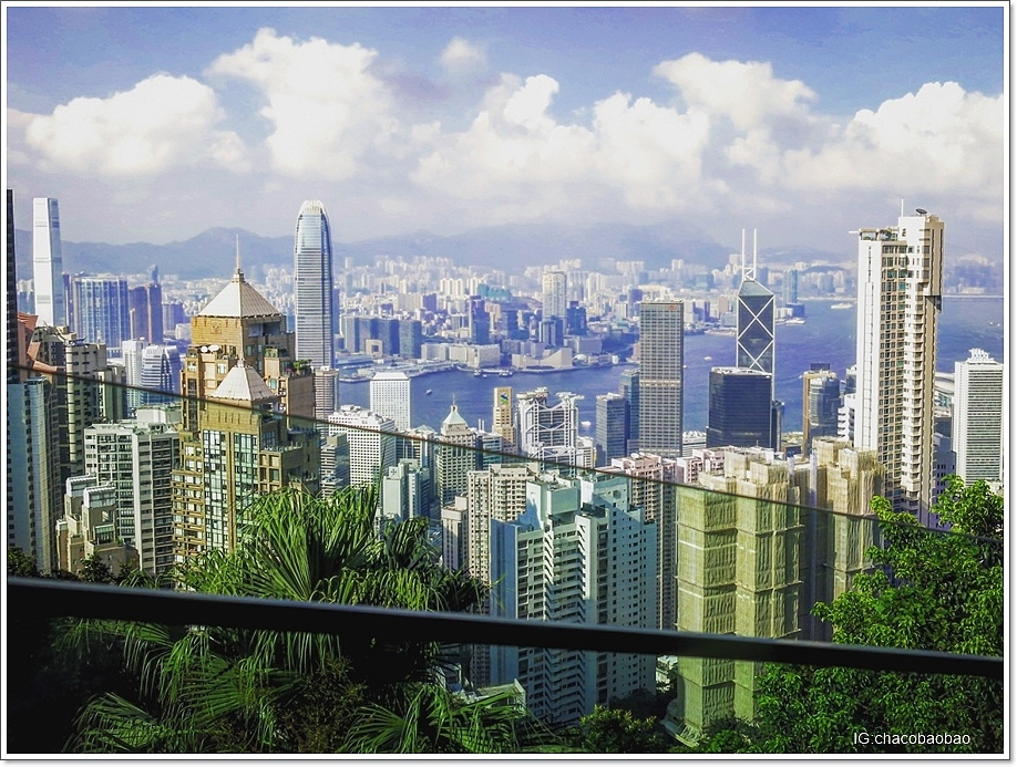 香港自由行20140905-2 纜車拍出去 上山記得搶右邊位置