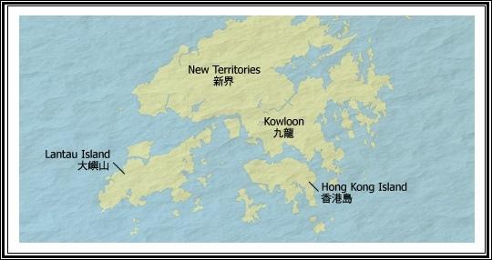 香港地理圖