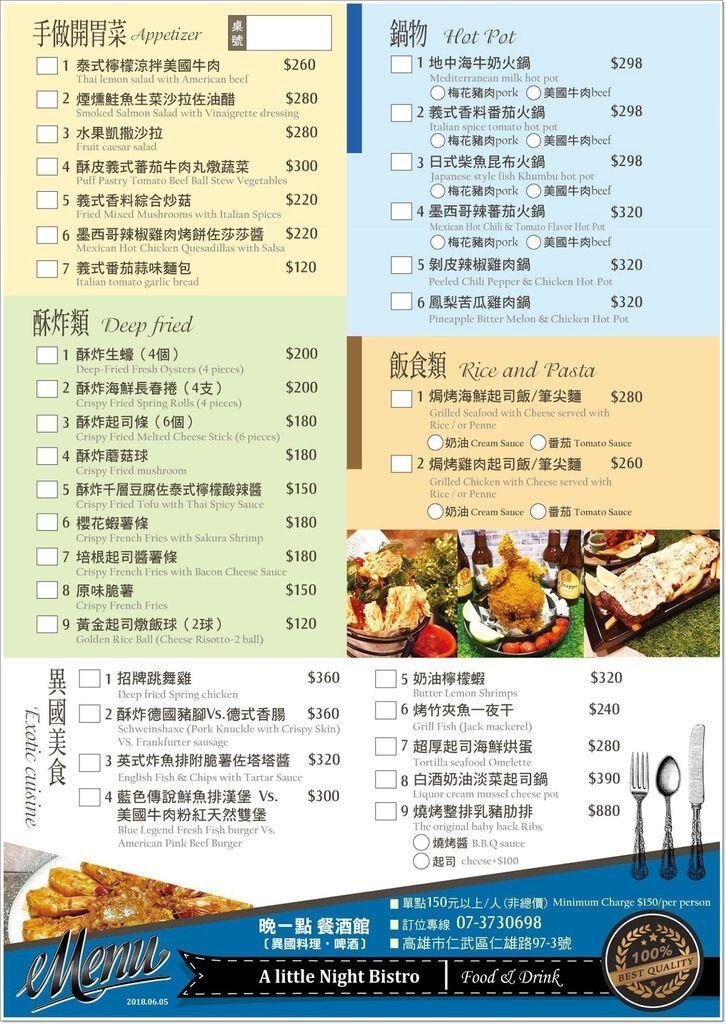 晚一點餐酒館菜單 (2)