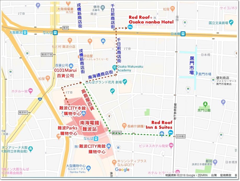 難波站地圖