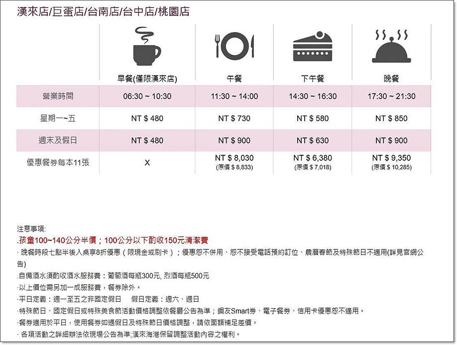 漢來海港自助餐價位