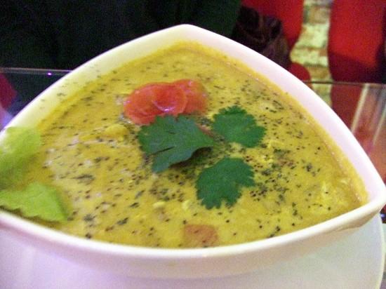 咖哩湯泡飯的樣子