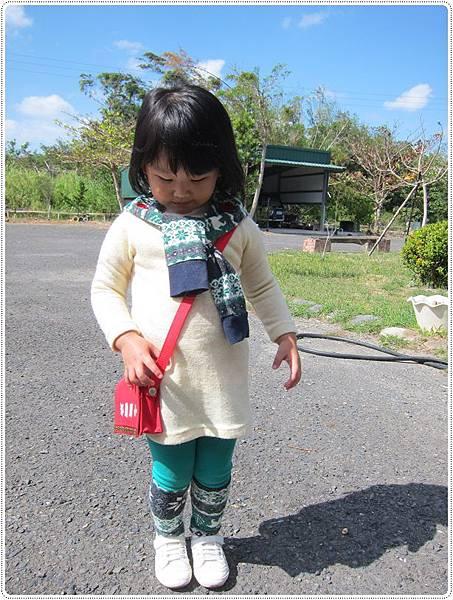她自己挑的衣服搭包包