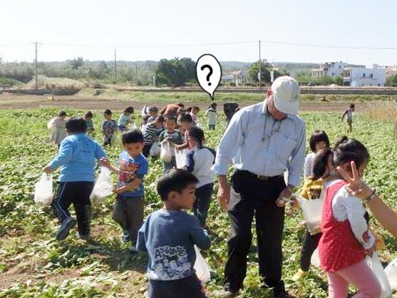 學校的農地已經15年以上沒有灑過農藥