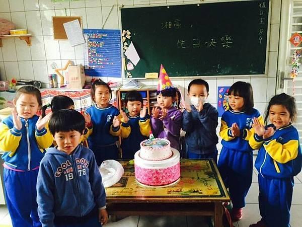 第一次跟同學一起過生日!