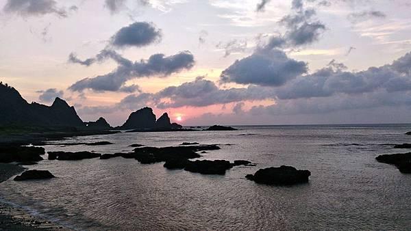 蘭嶼的第三天終於能看到日出的好天氣