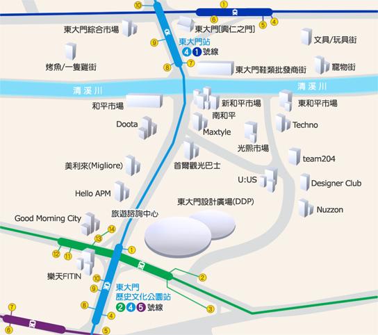東大門MAP