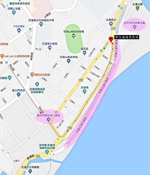 單行道民宿map