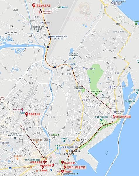 花蓮3天2夜懶人包行程地圖