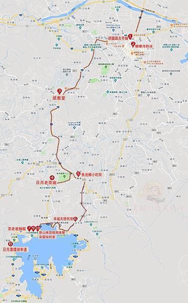 南投埔里魚池日月潭懶人包map