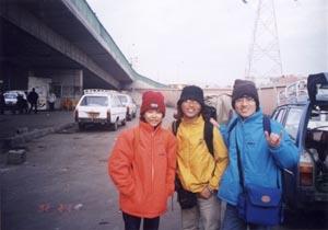 中間那位就是時常偶遇的韓國朋友