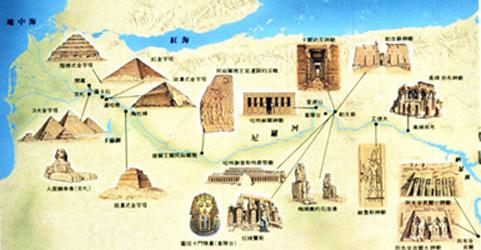 埃及神廟分佈圖