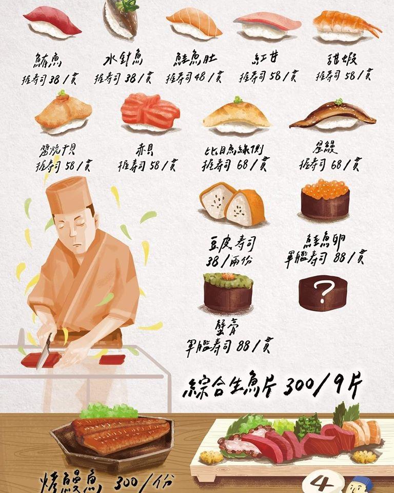望月家 菜單價位 台中壽司 忠明路美食02