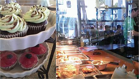 Tender Greens 開放式廚房和甜點區