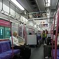 名鐵車廂內部