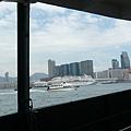 渡輪看過去的香港