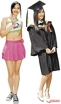 台大美女翁滋蔓(右)將正式進軍演藝圈,林俞汝(左)則打算先當幾年模特兒。趙元彬攝.jpg