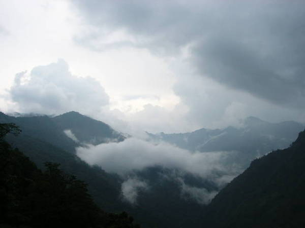 回程路上看到雲海