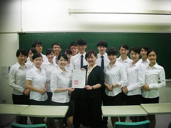 心彤老師帶領東海親善服務團司儀訓練20140507 (12)