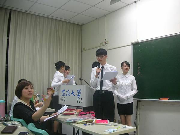 心彤老師帶領東海親善服務團司儀訓練20140507 (4)