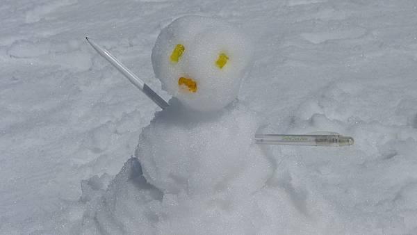 大家堆的雪人..眼睛跟嘴巴是用前天買的小熊軟糖作的哩