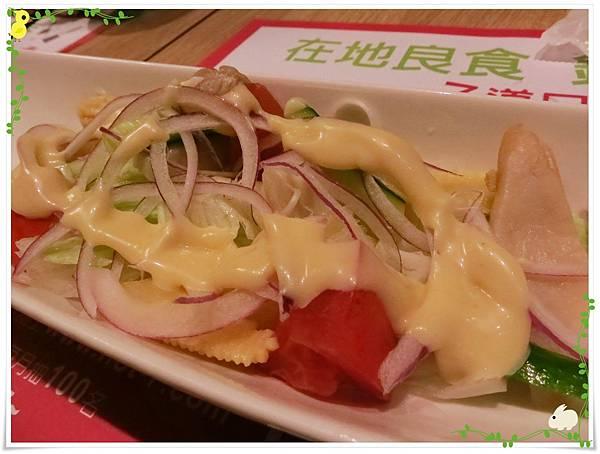 台北-HOT 7-王品集團平價鐵板燒-和風鮮蔬沙拉加醬