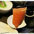 台北-食藝日式料理&涮涮鍋-前菜、生魚片、鮭魚