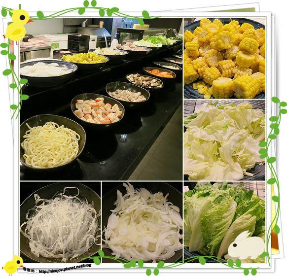 台北-本沐食堂-美味的壽喜燒吃到飽-蔬菜區