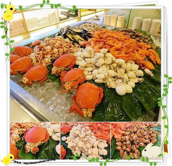 桃園-住都飯店晚餐buffet吃到飽-超出期待的美味-海鮮區