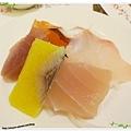 桃園-住都飯店晚餐buffet吃到飽-超出期待的美味-生魚片盤子
