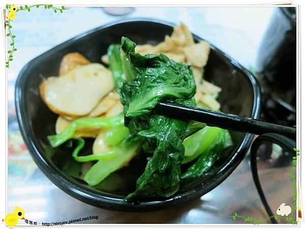 台北-三杯三怪-美味的三杯料理-青菜