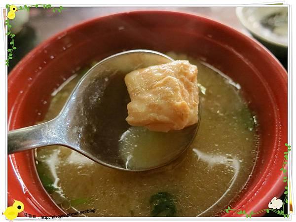 台北-板橋-海禾味刺身壽司屋-炙燒的美味,入口即化-鮭魚味噌湯