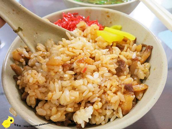 【台北】昌吉街豬血湯-香噴噴美味的魯肉飯-大腸W
