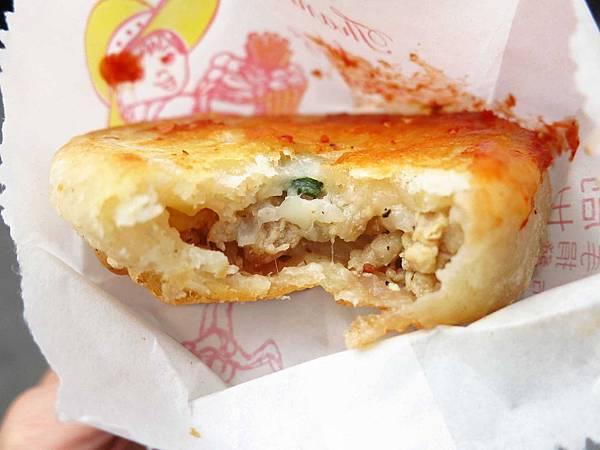 【台北永和美食】芝麻蔥油餅蘿蔔絲肉餅-四號公園旁小吃
