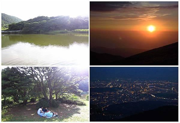 【台北旅遊】大屯山自然公園-美麗的湖畔伴隨著涼爽的微風與美麗的助航站夜景-民航局導航站