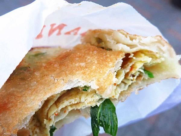 【三重美食】一品九層塔蔥油餅-228公園超人氣蔥油餅