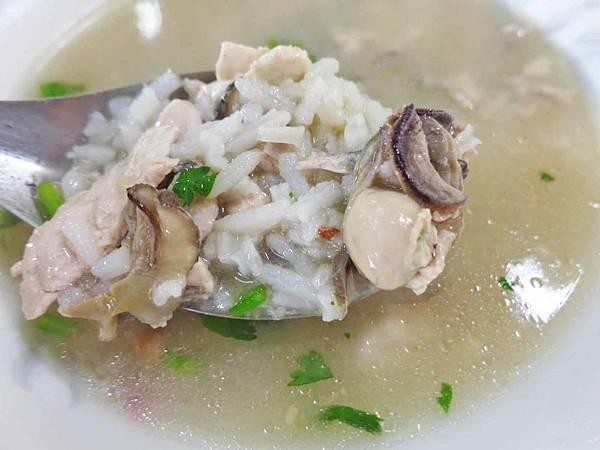 【台南美食】阿憨鹹粥-滿滿無刺虱目魚與蚵仔的鹹粥