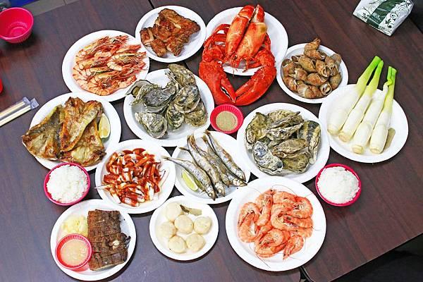 【蘆洲】玖肆伍鮮海鮮燒烤-活跳跳的龍蝦&超大海鮮