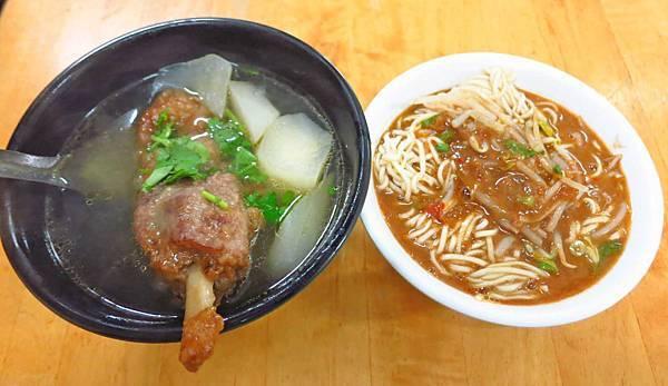 【宜蘭美食】正宗四川辣担麵-超大爽快的蘿蔔排骨湯