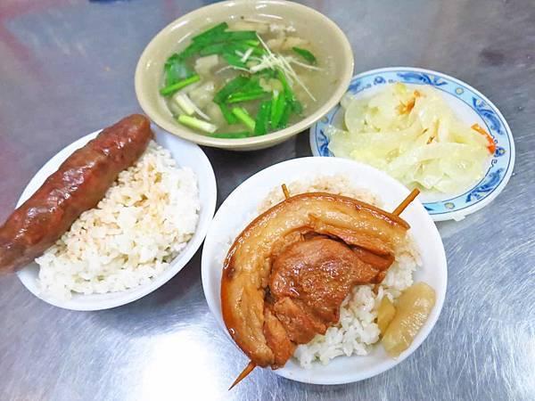 【彰化美食】A古爌肉飯-香腸飯比爌肉飯更推