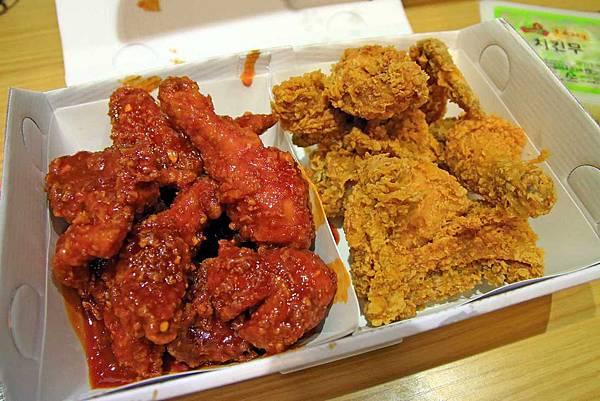 【韓國首爾】BBQ炸雞店-特殊橄欖油炸出的韓味炸雞