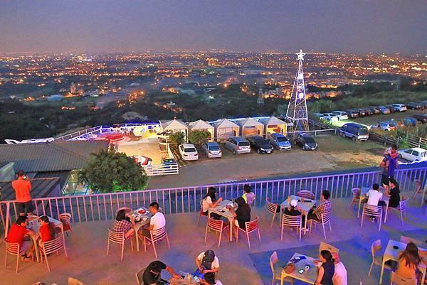 【桃園旅遊】觀天下咖啡庭園景觀餐廳-可以看到101的美麗夜景