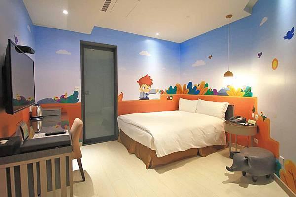 【台中旅館】星漾商旅中清館-親子故事主題旅館與遊戲室