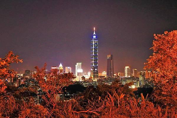 【台北旅遊】福州山公園-仰望美麗的台北101夜景