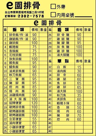 【台北萬華美食】e園排骨-超大份量30年老店
