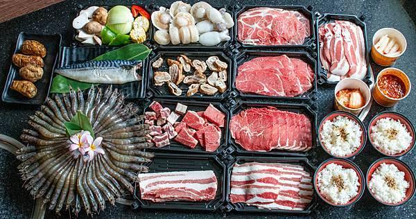 【桃園外帶美食】石頭日式炭火燒肉-外帶燒肉套餐+1元贈送50蝦及鯖魚
